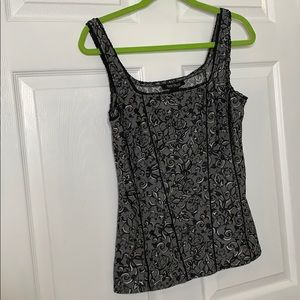 White house black market gray fitted tank size M